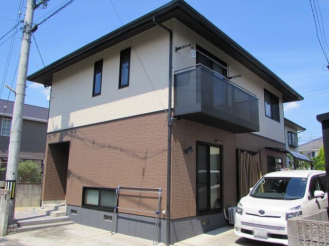 岡山市東区西大寺 外壁長期メンテフリー 無機質系塗料で塗り替え