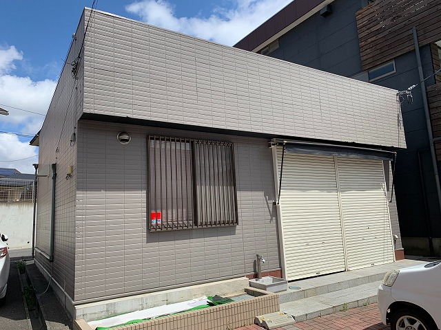 郡山市の店舗改修工事、元の状態に戻す工事、外壁塗装塗り替え