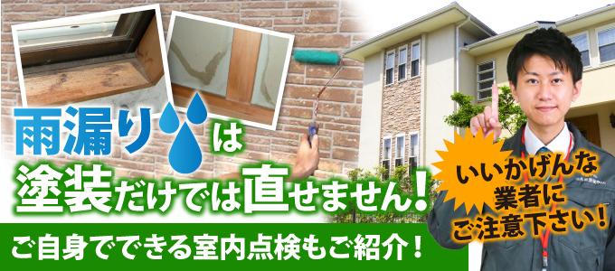 雨漏りは塗装だけでは直せません