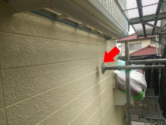 外壁に設置している足場は避けて塗装します