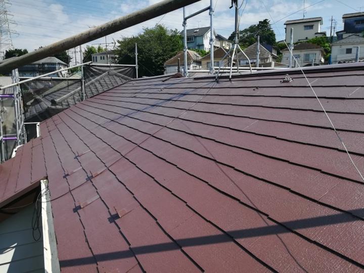 屋根塗装、竣工