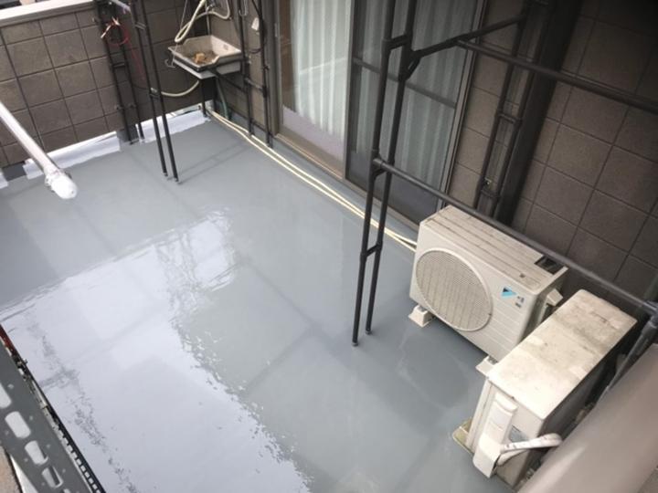 竣工、ウレタン防水通気緩衝工法