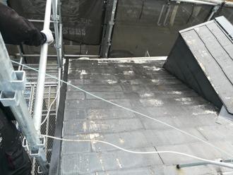 屋根が塗れ色に