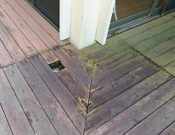 ウッドデッキ木材交換前