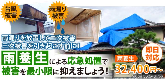雨養生による応急処置で被害を最小限に抑えましょう