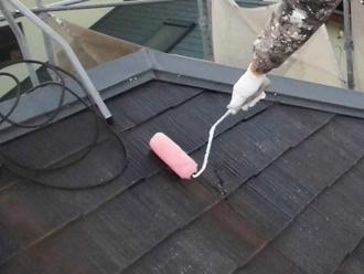 千葉県 八千代市 屋根塗装 スレートのクラック補修