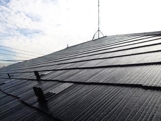 千葉県 八千代市 屋根塗装 スレートのクラック補修 補修後