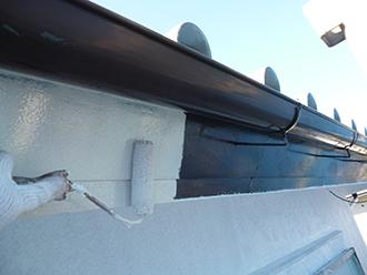 印旛郡 破風板塗装
