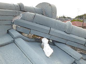 印旛郡 屋根漆喰 点検