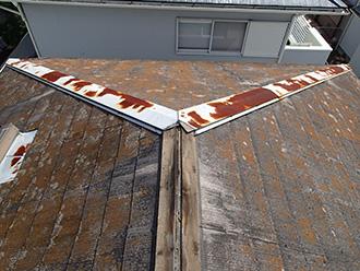 千葉県市原市 屋根カバー 外壁塗装 モルタル外壁補修 点検 屋根 棟板金の飛散