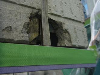 習志野市 外壁補修 穴