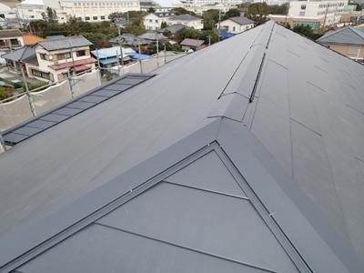 千葉県 館山市 外壁塗装 屋根カバー工法 完工後