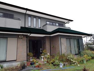 千葉県 館山市 屋根カバー工法 外壁塗装 足場架設