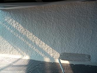 印旛郡 外壁塗装 中塗り