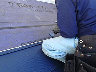 千葉県 市原市 屋根カバー工法 屋根材の設置