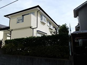 千葉県市原市 屋根カバー 外壁塗装 モルタル外壁補修修 カラーシミュレーション クリームホワイト