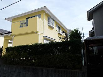 千葉県市原市 屋根カバー 外壁塗装 モルタル外壁補修修 カラーシミュレーション 薄めのイエロー