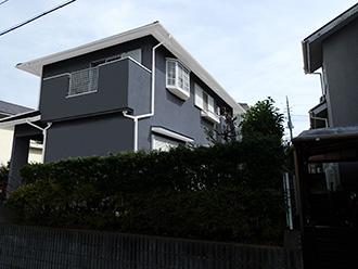 千葉県市原市 屋根カバー 外壁塗装 モルタル外壁補修修 カラーシミュレーション 濃い目のグレイッシュブルー
