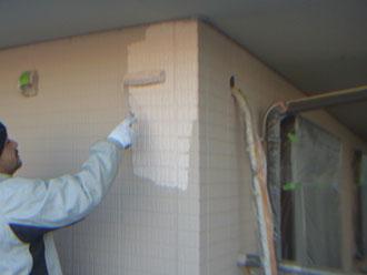 習志野市 外壁塗装 上塗り ナノコンポジットW