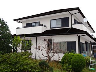 千葉県 館山市 屋根カバー工法 外壁塗装 足場架設 メッシュシート